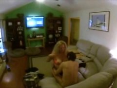 Busty Wife Cuckolds her Hubby with a Teen