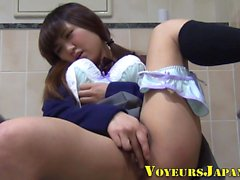 Asian babe solo touches