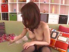 Colata porno con una bella Asian Una di Yabuki