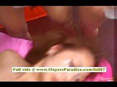 Miho Maeshima Китайская девушка трахает сложно и попадает Выстрел спермы