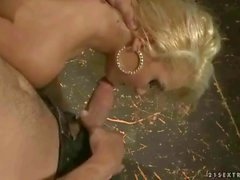 Sexy blonde gets bondaged and punished