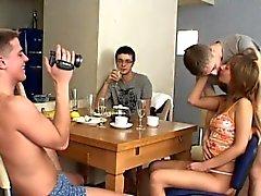 Top sexo de grupo travado na câmera