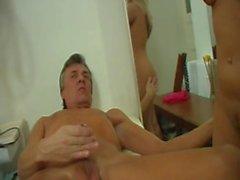 Blonde fucked by horny old doctor