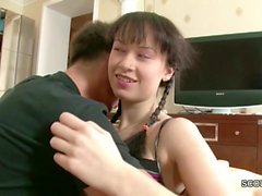 He Seduce petite Step-Sister to Fuck his Big Cock after HW