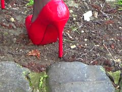 Nylons and Heels flashing Couple