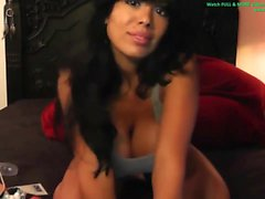 Hottest latina ever flashing boobs on webcam