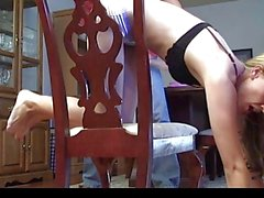 Kneeling-on-chair strapping