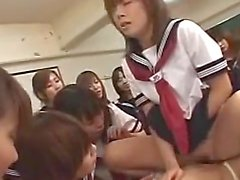 18yo Asians In A Reverse Gangbang