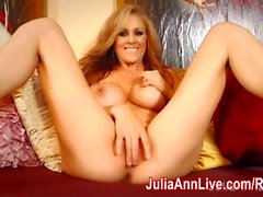 Milf Julia Ann Masturbates in Red Heels