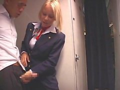 Japanese Guy Fucks Big Floppy Tits Blonde Stewardess Fucked