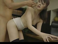 Enticing Japanese wife in black stockings engages in a steamy affair