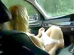 Sex in a Car with a stunning Teen ctoan