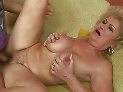 Ugly old bitch gets fucked by boy