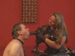 Domina with ashtray slave