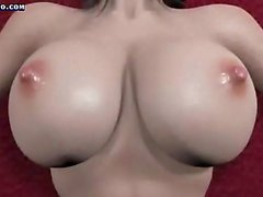Busty animated takes massive cock