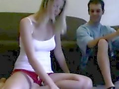 Hot amateur couple in homemade video