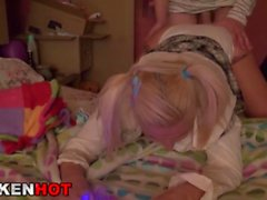 Krakenhot - BDSM Casting with this blonde girl in the bath