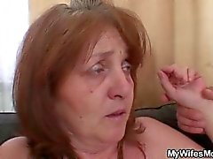 Son in law doggystyles busty granny