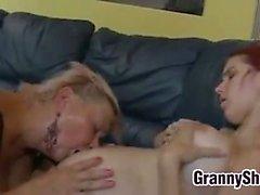 Big Beautiful Lesbian Grannies Have Group Sex