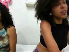 Sexy black teen bitch seduced by a mature ebony lesbian