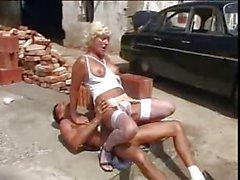 blonde car sex