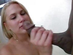 Captivating blonde gets her snatch rammed by big black dick