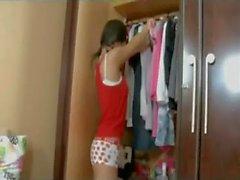 Serious Teen Dildo Action