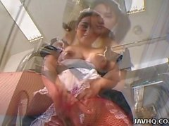 Yummy Japanese maid loves being drilled hard