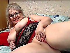 Large Grandmother Masturbating