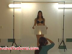 Backstage erotic shooting with real czech hottie