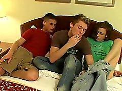 Gay de de pelo marrón de porno sexy teen de Londres del carril da a Devon y de