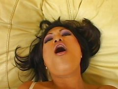 Tight Asian pussy being played with