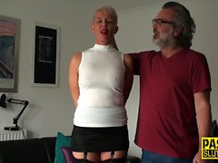 Mature submissive squirts