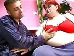 Lustful redhead plumper