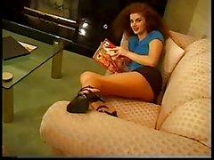 2 girls playing in pantyhose