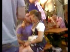 Guy Fingers His Girlfriend On Oktoberfest