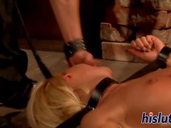 Kinky slut gets bound and fucked hard