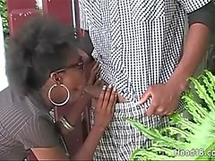 Wild ebony takes as much hard cock as she can get