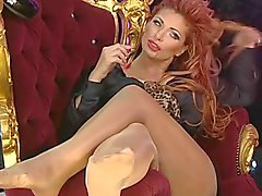 Tan Pantyhosed Feet