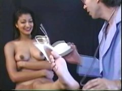 Striking Indian girl with big boobs loves to get hammered doggy style