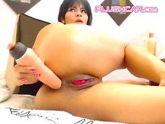 Big Ass Milf Enjoy PLUSHCAM Lovense Pink Tail Inside Pussy