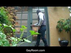 GayRoom Hot neighbor creeps in for a rainy day fuck
