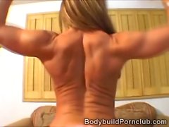 Blonde fitness model Italia plays alone with her wet pussy