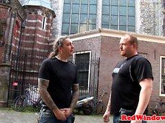 Dutch hooker plowed doggystyle by tourist