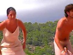 Japonaises Voyeur plage de nudistes