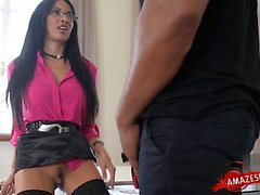 Busty cowgirl fucking orgasm