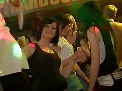 Gorgeous European Babes Sucking At Nightclub