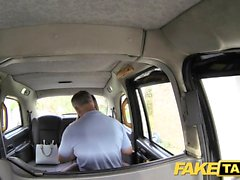 Fake Taxi office girl in stockings rimming anal sex