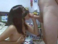 Blindfolded Asian Filipina amateur babe fucked hard