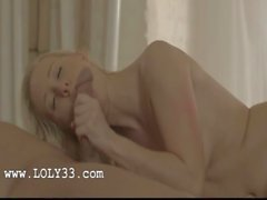 Amazing blond babe in sensitive erotica